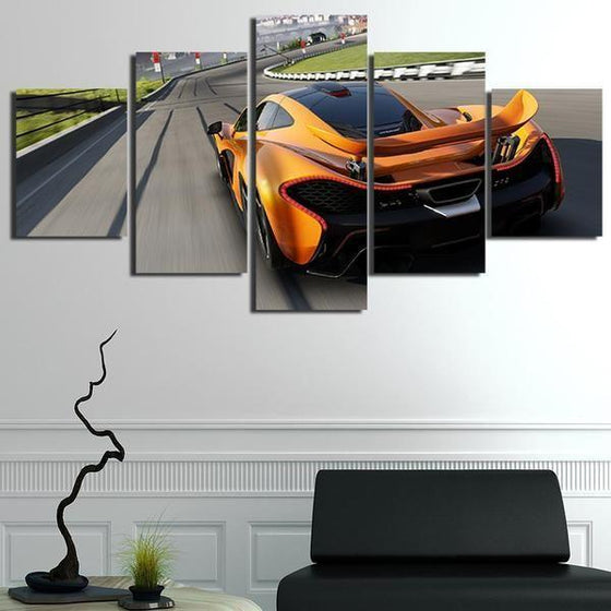 Forza Motorsport Orange Car Canvas Wall Art Prints
