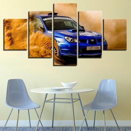 Blue Subaru WRX Canvas Wall Art Restaurant