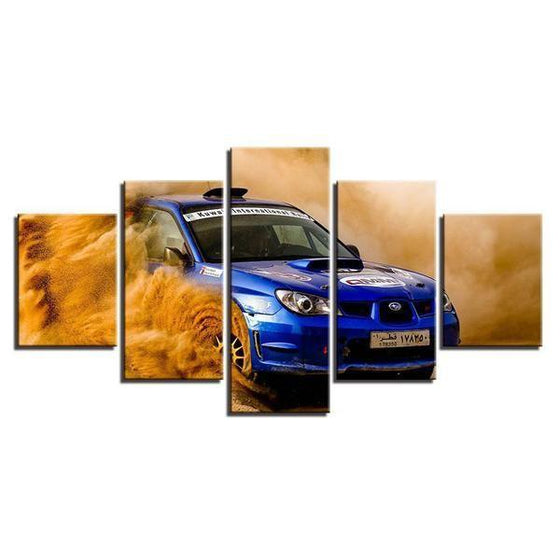 Blue Subaru WRX Canvas Wall Art