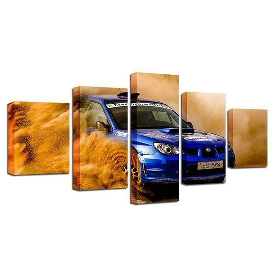 Blue Subaru WRX Canvas Wall Art Prints