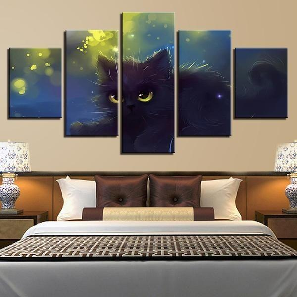 Cat Themed Wall Art Canvas