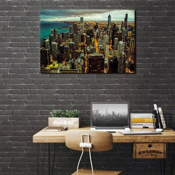 Chicago City View Wall Art Bedroom