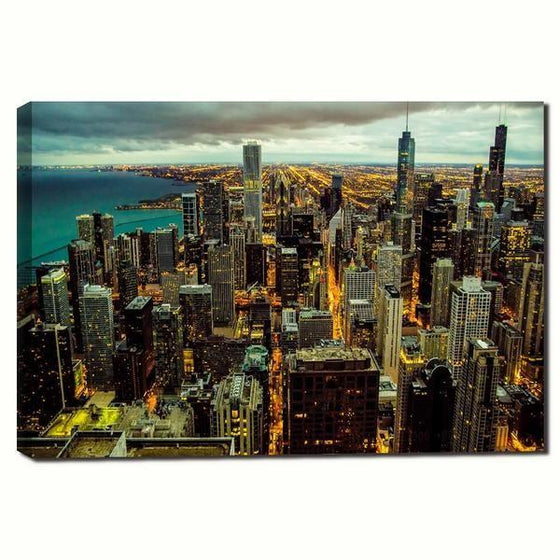 Chicago City View Wall Art Canvas