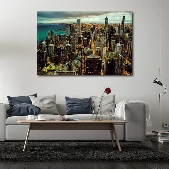 Chicago City View Wall Art Decor