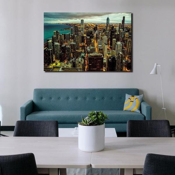 Chicago City View Wall Art Living Room