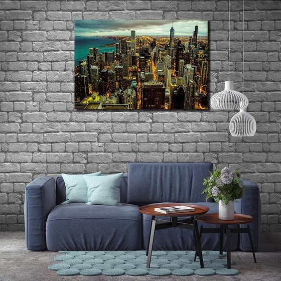Chicago City View Wall Art Print