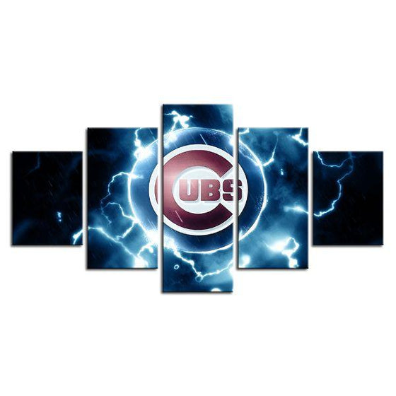Chicago Cubs Baseball Canvas Wall Art