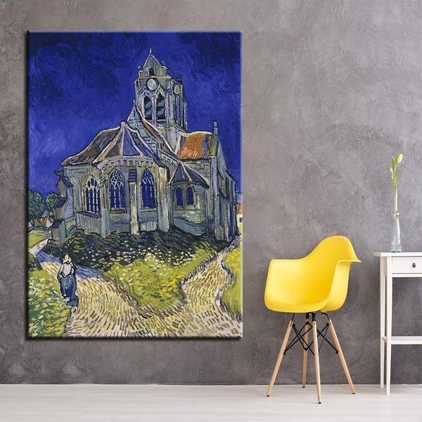 The Church at Auvers 1890 by Vincent van Gogh Canvas Print Wall Art ...