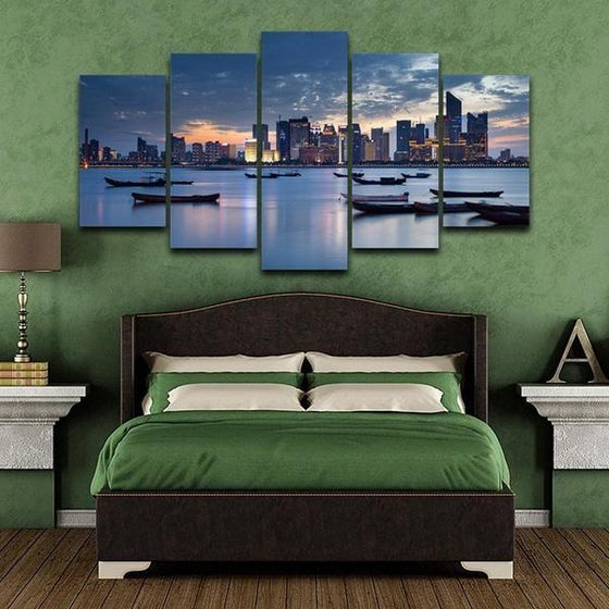 City Landscape Wall Art Canvases