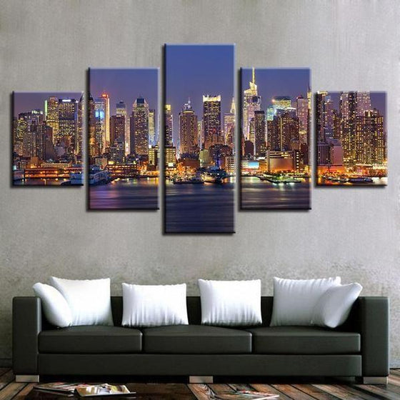 City Lights Wall Art Canvas