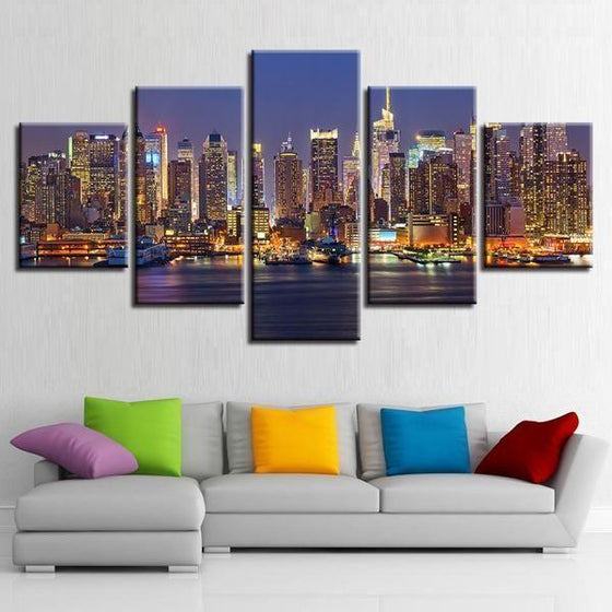 City Lights Wall Art Canvases