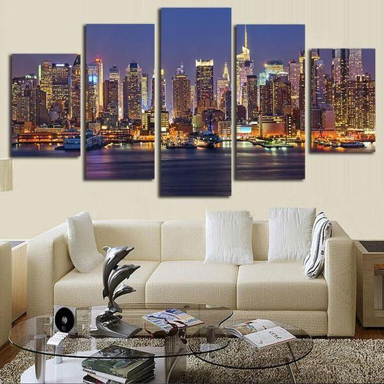City Lights Wall Art