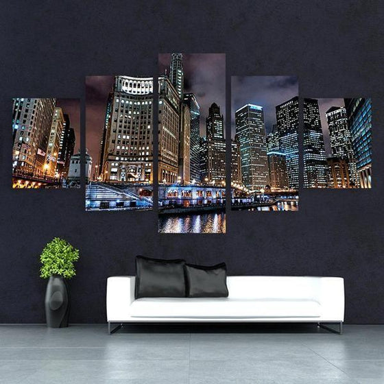 Chicago City Buildings Canvas Wall Art Home Decor