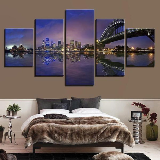 City Scene Wall Art Canvas