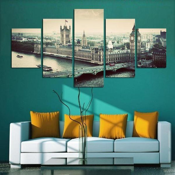 City Skyline Metal Wall Art Idea