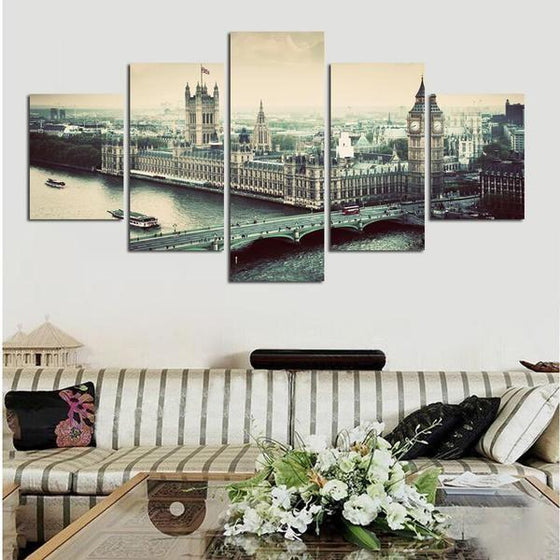 City Skyline Metal Wall Art Prints