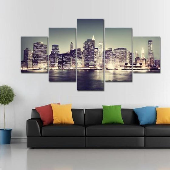 City Skyline Wall Art Canvas