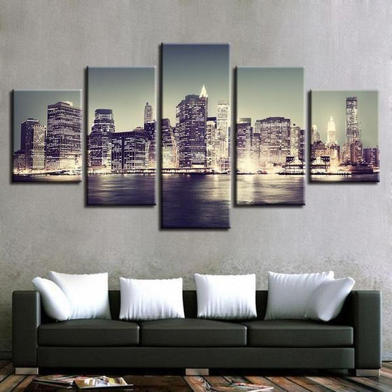 City Skyline Wall Art Canvases