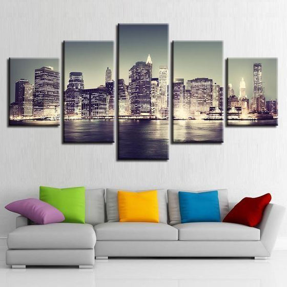 City Skyline Wall Art Decor
