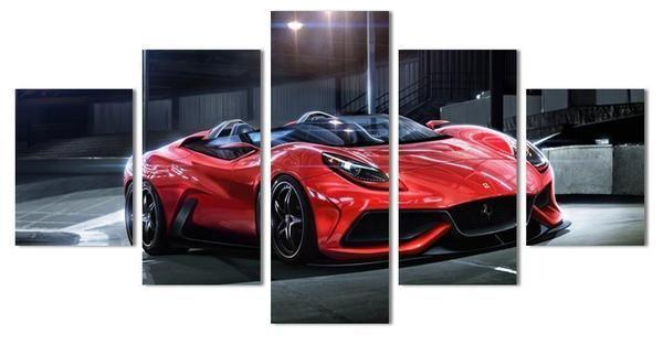 Red Ferrari F12 Berlinetta Canvas Wall Art | Buy Sports Car Art ...