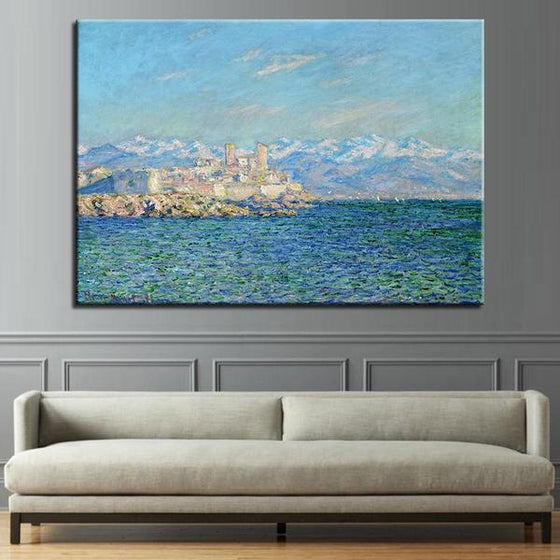 Antibes Afternoon By Claude Monet Canvas Wall Art Decor