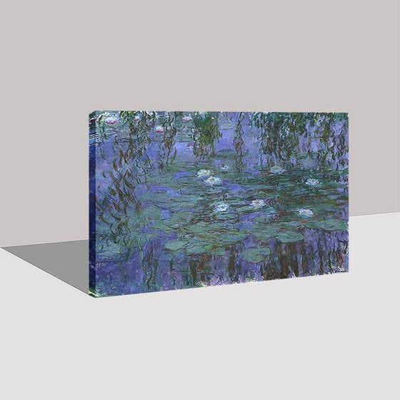 Blue Water Lilies by Claude Monet Canvas Wall Art Prints