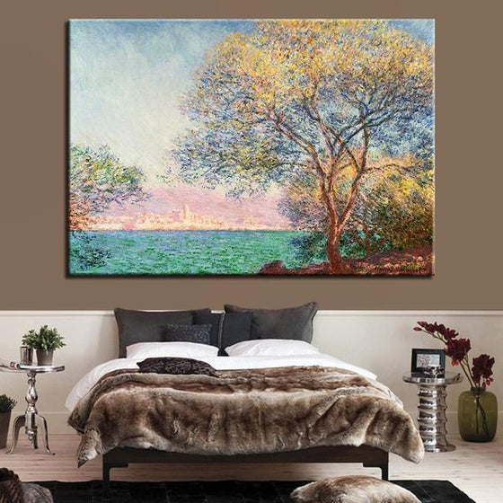 Antibes Morning By Claude Monet Canvas Wall Art Bedroom Decor