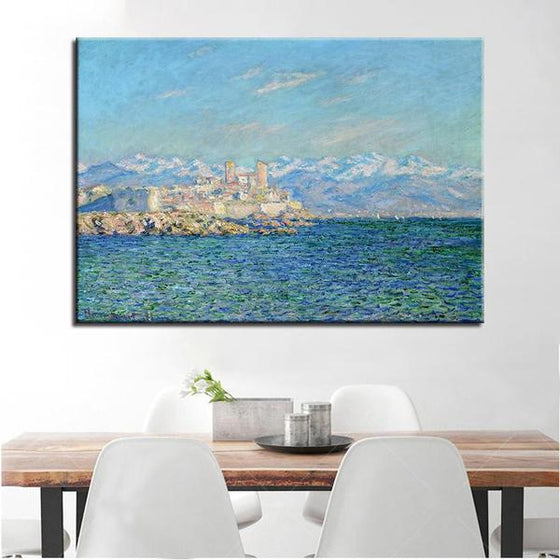 Antibes Afternoon By Claude Monet Canvas Wall Art Dining Room