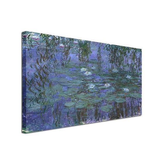 Blue Water Lilies by Claude Monet Canvas Wall Art Ideas