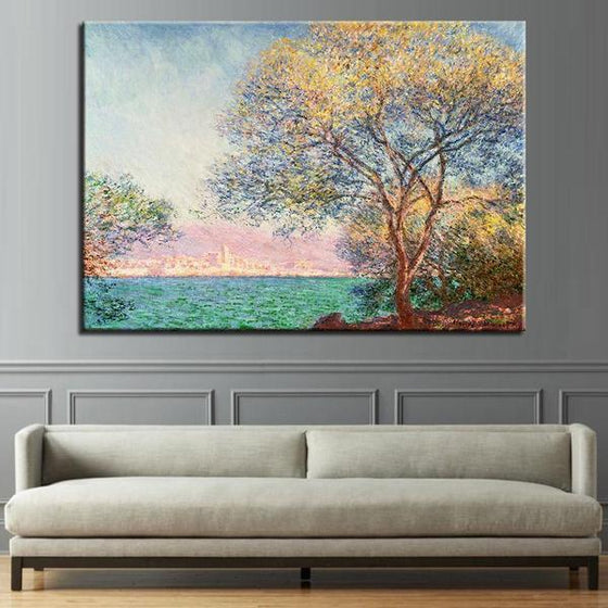 Antibes Morning By Claude Monet Canvas Wall Art Decor