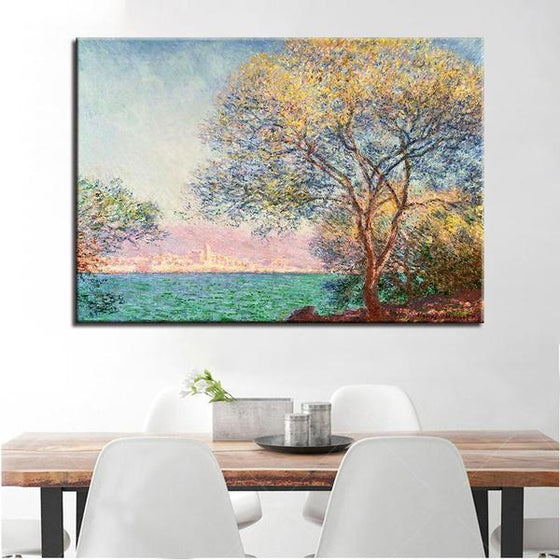 Antibes Morning By Claude Monet Canvas Wall Art Dining Room