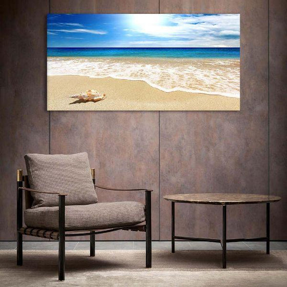 Clean Beach Side View Canvas Wall Art Decor