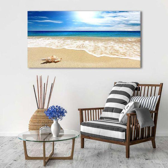 Clean Beach Side View Canvas Wall Art Decors