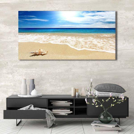 Clean Beach Side View Canvas Wall Art Ideas