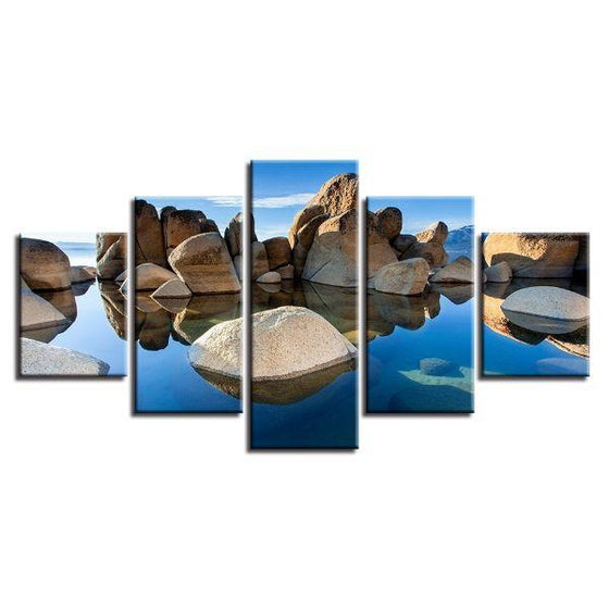 Scenic Rock Formation Canvas Wall Art