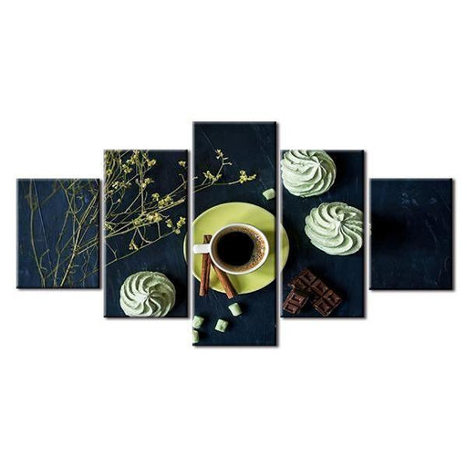 Coffee And Cupcakes Canvas Wall Art