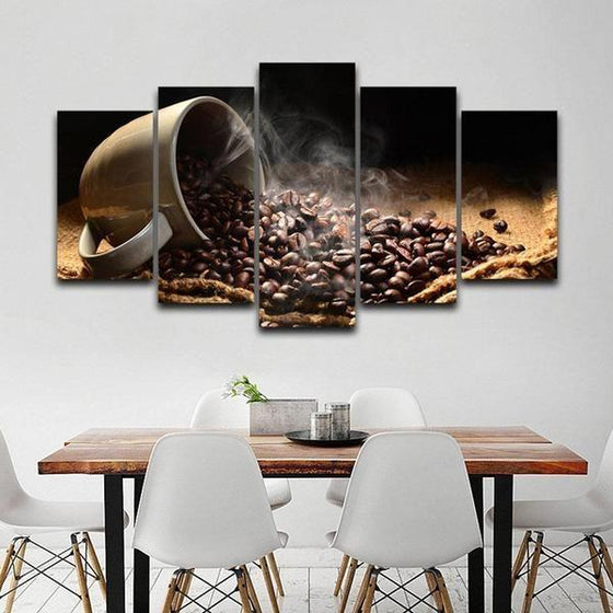 Coffee Bean Wall Art Canvas