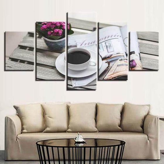Coffee Cup Wall Art Metal Canvas