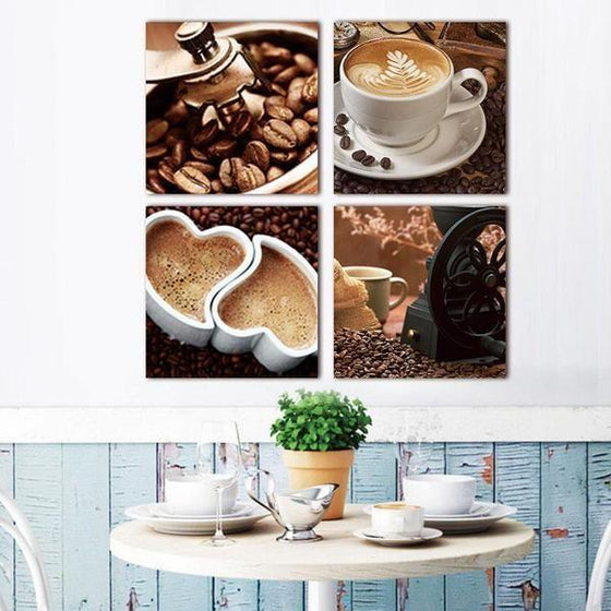 Coffee Kitchen Metal Wall Art Canvas