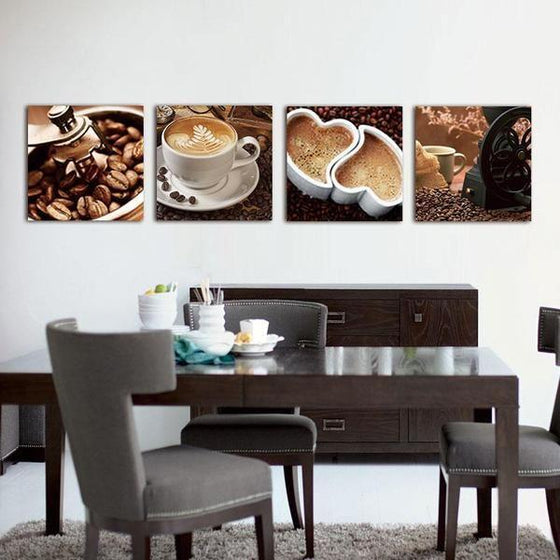 Coffee Kitchen Metal Wall Art Decor