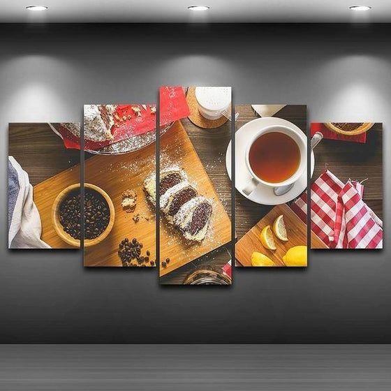 Coffee Beans & Cake Canvas Wall Art Ideas