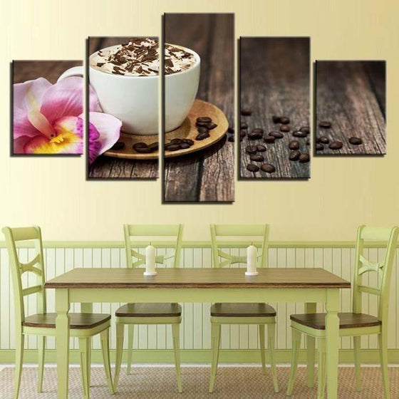 Foamy Cappuccino Canvas Wall Art Dining Room