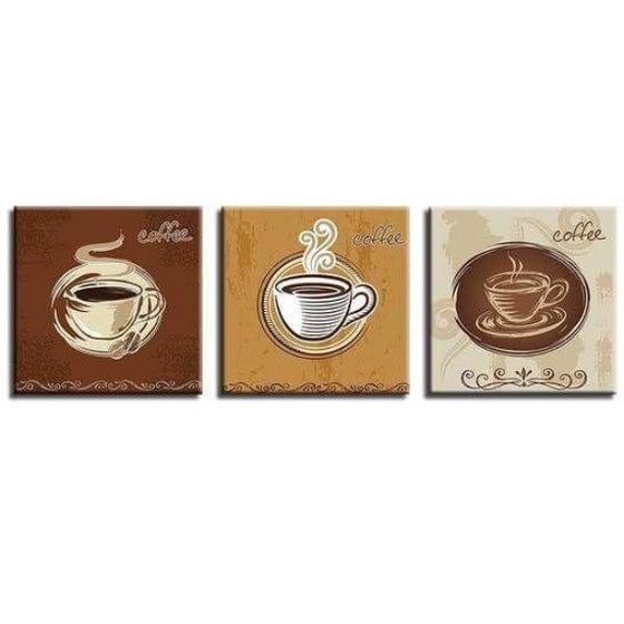Coffee Cups For Restaurant Canvas Wall Art Ideas