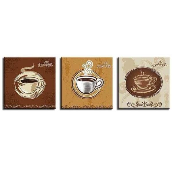 Coffee Cups For Restaurant Canvas Wall Art | Cafe Wall Decor ...