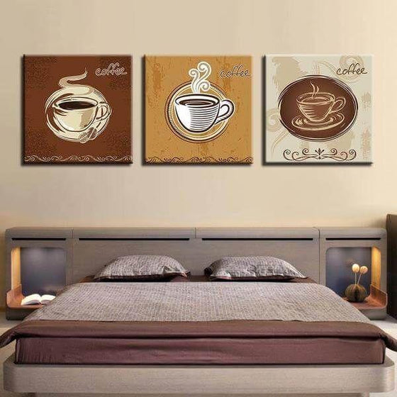Coffee Cups For Restaurant Canvas Wall Art Bedroom