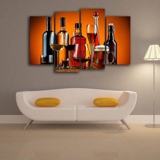 Cold Liquor Drinks Canvas Art Decor