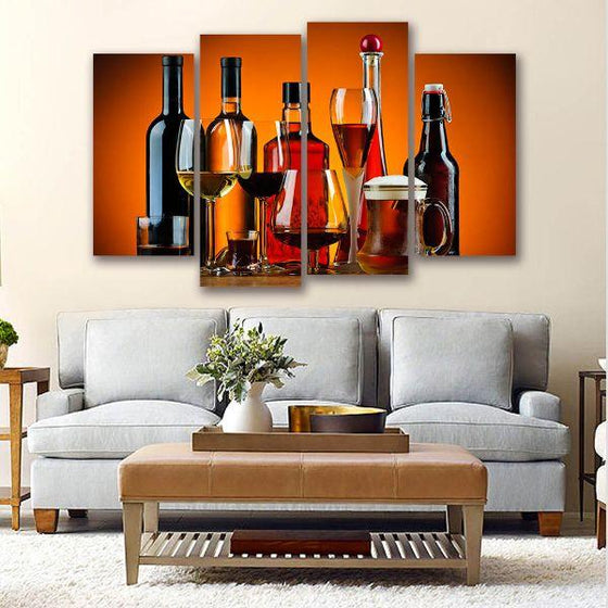 Cold Liquor Drinks Canvas Art Living Room
