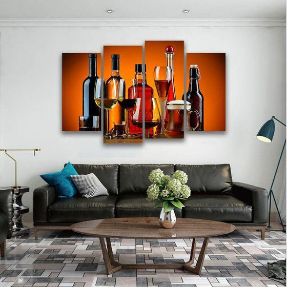 Cold Liquor Drinks Canvas Art Print