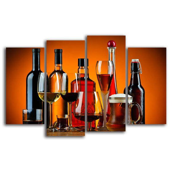 Cold Liquor Drinks Canvas Wall Art