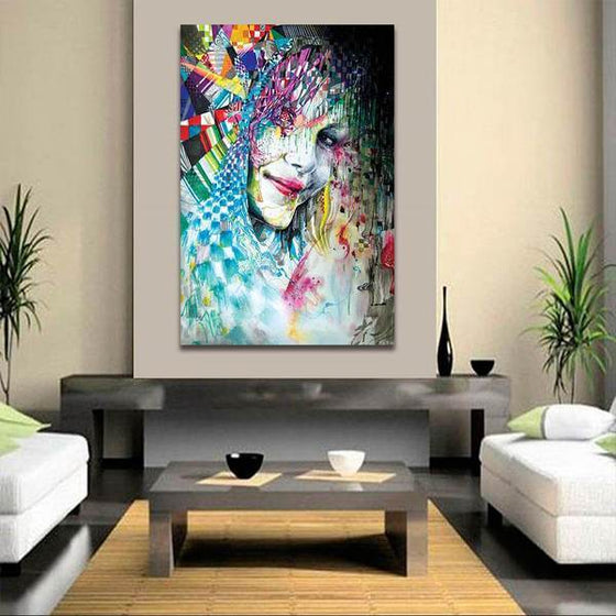 Colorful Abstract Woman Wall Art Decor